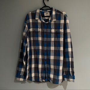 Vans plaid long sleeve button up